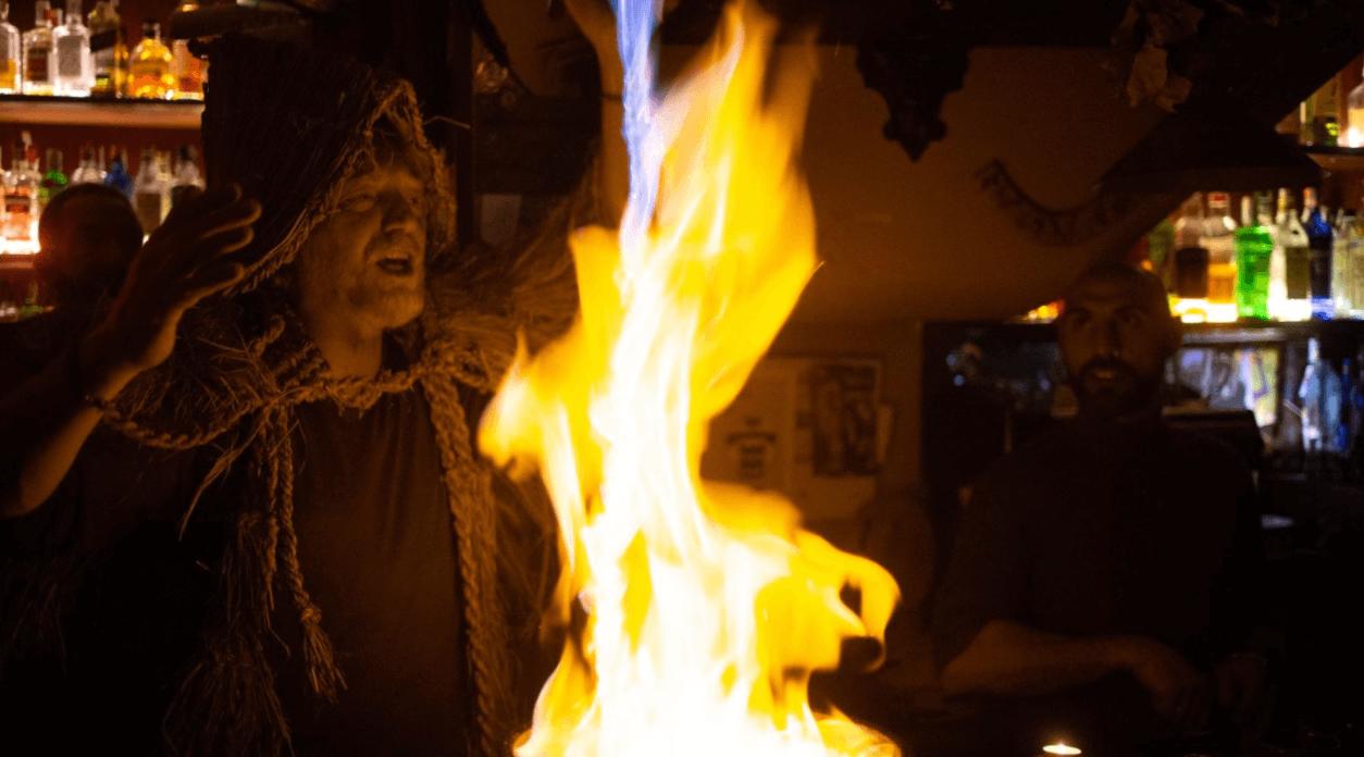 Espectaculo magico de la Queimada galega