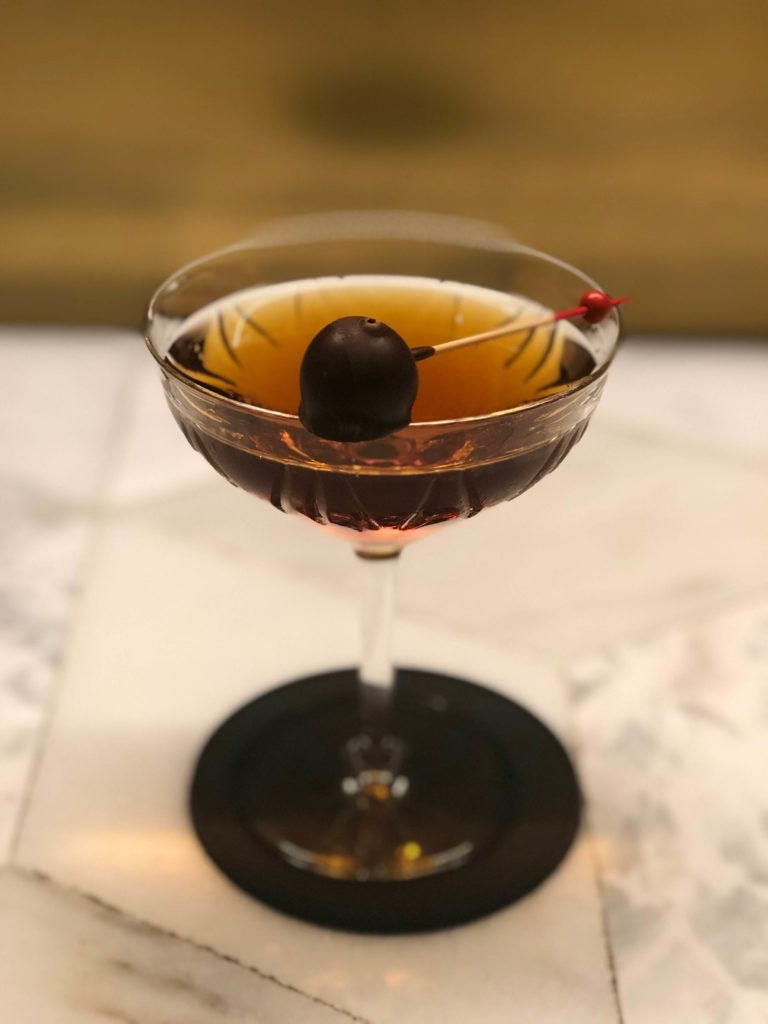 Cóctel Amontillado Manhattan